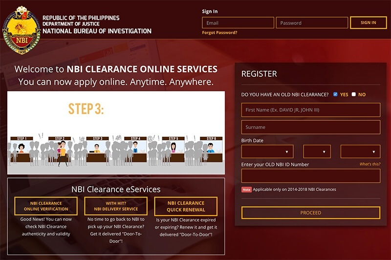 How To Apply Nbi Clearance Online Nbi Clearance Website