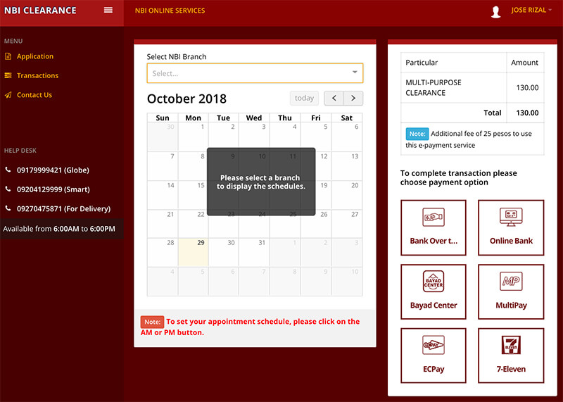 How To Apply Nbi Clearance Online Schedule An Nbi Clearance Appointment