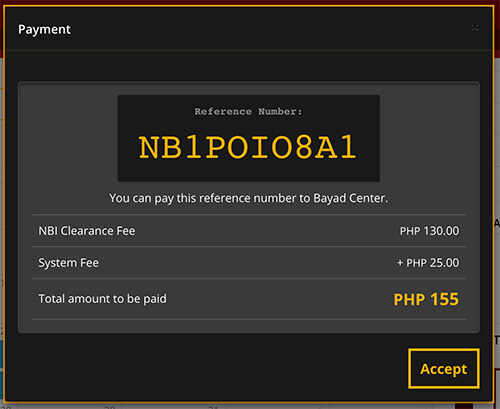 How To Apply NBI Clearance Online 2019 - Payment Reference Number