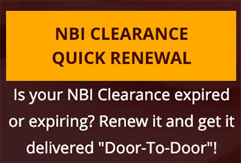 NBI Clearance Online Quick Renewal Button