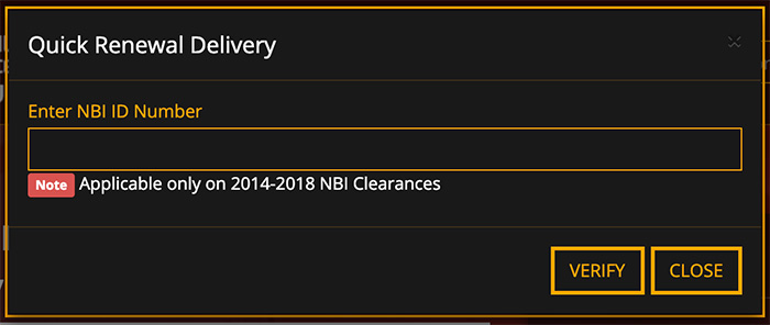 NBI Clearance Online Quick Renewal Delivery