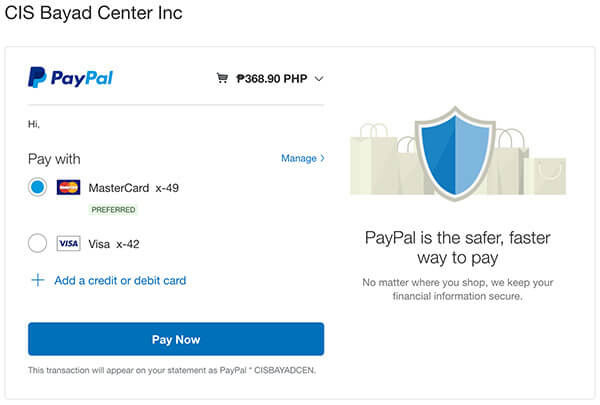 NBI Clearance Online Quick Renewal Paypal Pay Now Button
