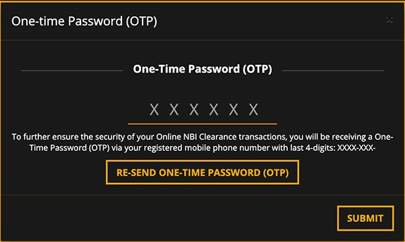 NBI-Clearance-One-Time-Password