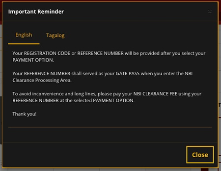 NBI Clearance Online Important Reminder