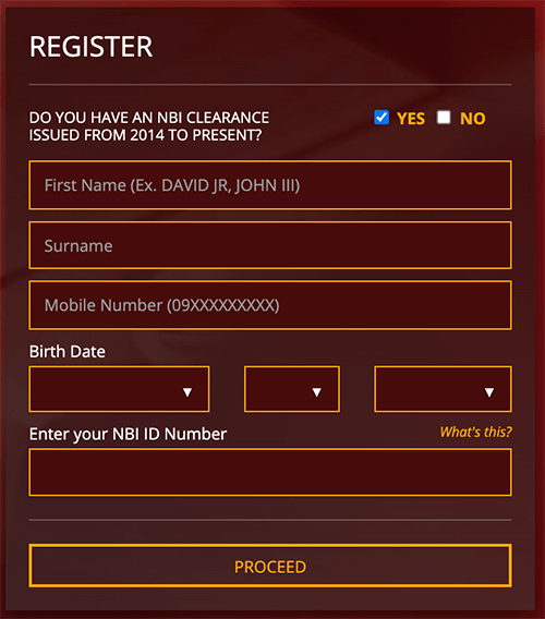 NBI Renewal Registration Form image 1